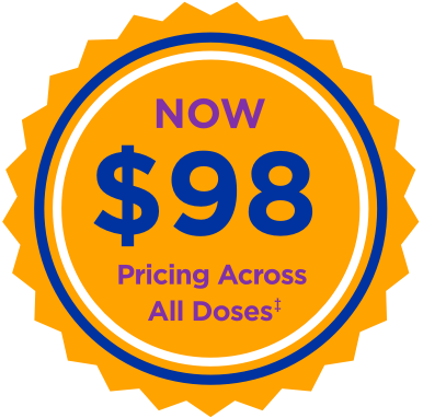 Now $98 Pricing Across All Doses